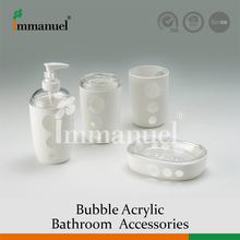 Patent Clear Bathroom Accessory Sets, Rinse Cup And Soap Bottle