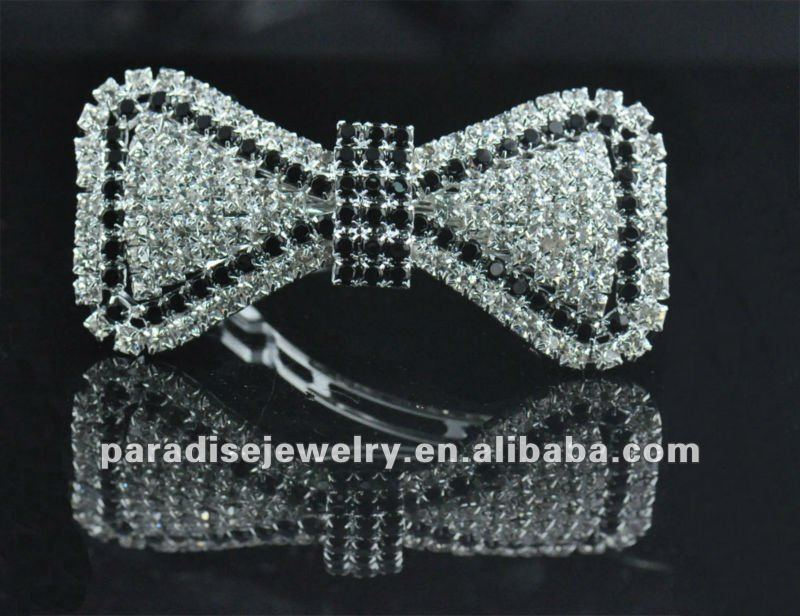 Beautiful Bows Crystal Rhinestone Barrette