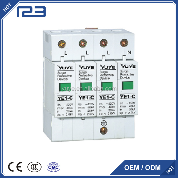 Wholesale single phase thunder arrester,voltage surge protector,lightning Protector