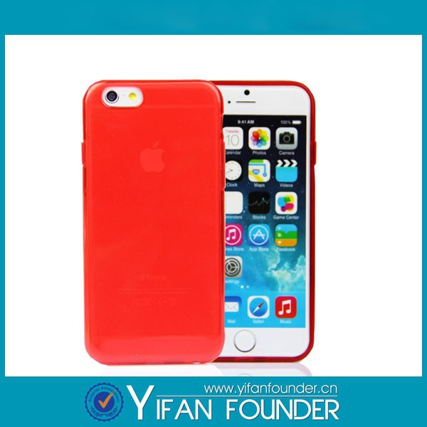 Transparent tpu dual-protective 3d sublimation case for iphone 6