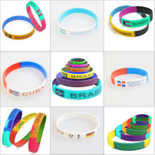 Fashionable football silicone bracelet for team