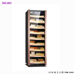 Hold 2000-2500 / cigar humidor cooler cigar display cabinet electric cigar humidors 100% constant humidity and temperature