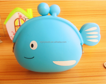 New design fish shape Silicone Purse wallet bulk neoprene wallet