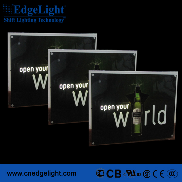 Acrylic panel and aluiminum frame magnetic led slim light box