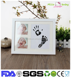 baby handprint and footprint clay keepsake artificial crafts passed photo frame kit