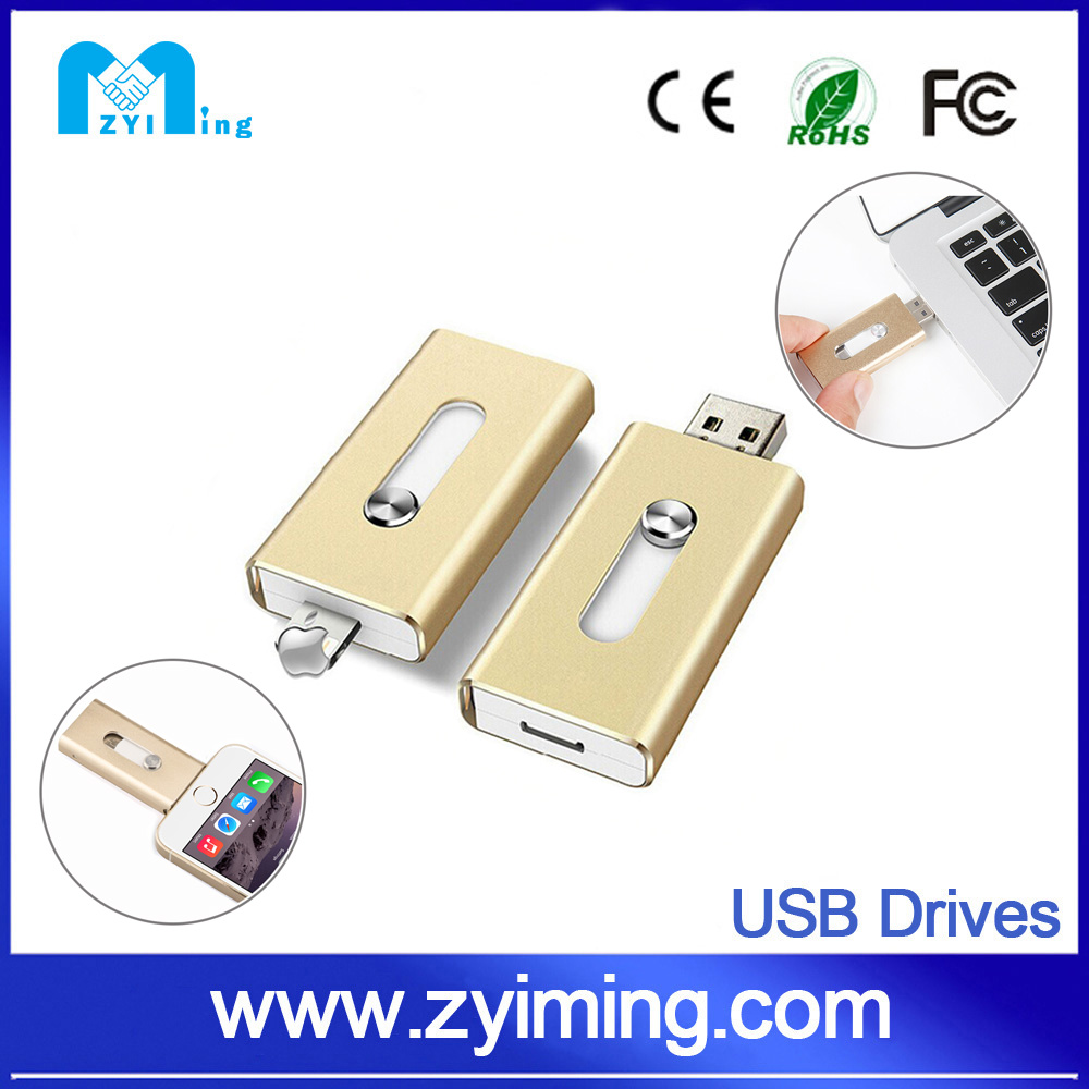 Zyiming New china products wholesale custom mini otg usb drive <strong>flash</strong> for iphone