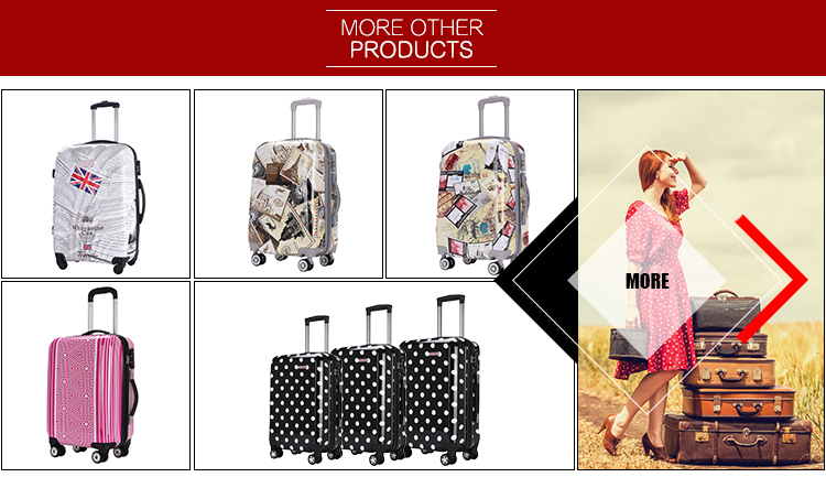 Hot Sale Cheap 3 pieces Per Set Colorful Scrawl Design Printing Trolley Luggage