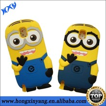 3D Custom Minions silicone mobile phone case Despicable Me 2 case for IPhone 5 5s