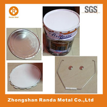 High Quality Metal Rectangular Oil Petrol Tin Can/5L Tin can for Latex paint, coating or other chemical products