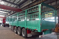 Factory delivery tri-axle cattle trailer for transport