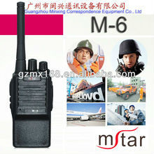 Mstar M-6 UHF/ VHF 5w power walkie talkie portable radio telephone