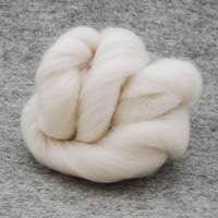 extra fine Merino roving assorted white color wool yarn for felting (milk white )