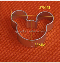 Stainless steel mickey mouse shape cake mold