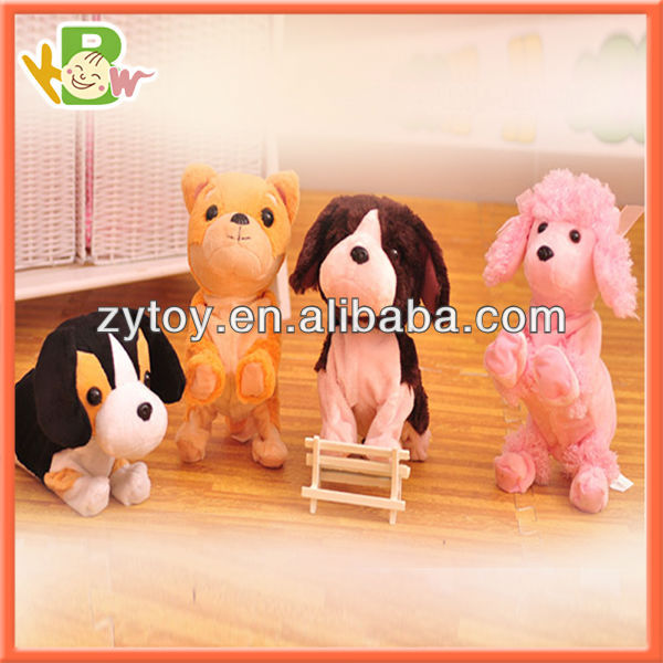 Cute plush dog toy Electronic talking toy 4colors