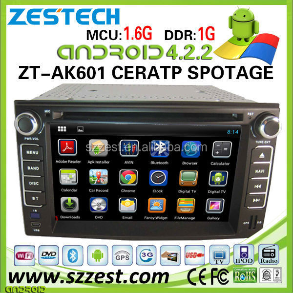 ZESTECH 7 inch car audio for Kia Cerato car audio system with Android 4.2.2