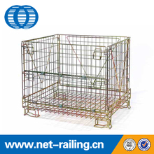 Storage folding industrial China wire mesh cage container
