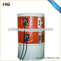2014 hot sell 200L 3000w heat fast safe customise 12v 24v 36v 48v industrial electric silicone drum heater