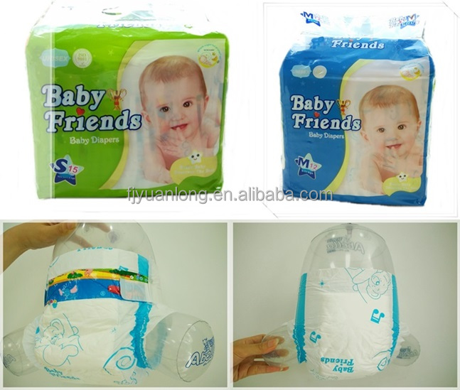 Cheap Disposable 100% Cotton Printed Baby Diaper Manufacturer from China