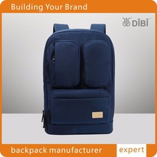 Fashionable designed wholesale outdoor laptop backpack in navy blue color from Guangzhou DIBI