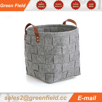 Storage basket handmade eco- friendly felt storage bag basket