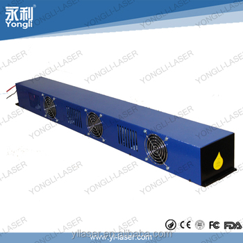 1200mm no water cooled co2 laser tube with ISO, CE, FCC, FDA