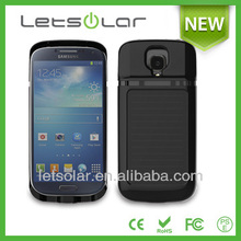 Li-polymer battery charger solar power bank & case solar charger for Samsung galaxy S4 I9500 LET66