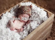 Short Hair Soft Faux Fur Photography Props for Newborn Baby Photo Props Blanket 100*170cm