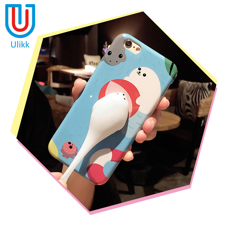 Squishy Case for iPhone 6 6s 7 plus 5 5s se Cases 3D Soft Silicone Seal Squishy Kneading Cat Phone Case Cover for iPhone 7 plus