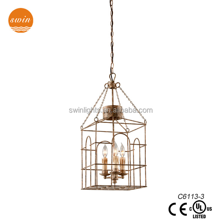 vintage style wire cage pendant lamp,iron pendant light with UL/CE C6113-3