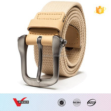 High Quality Real Solid brand Belts for Men Fashionable Pin Buckle Canvas Strap