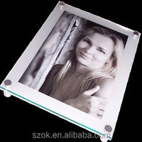 A4 acrylic wall mounted picture frames with advertising nail wholesale