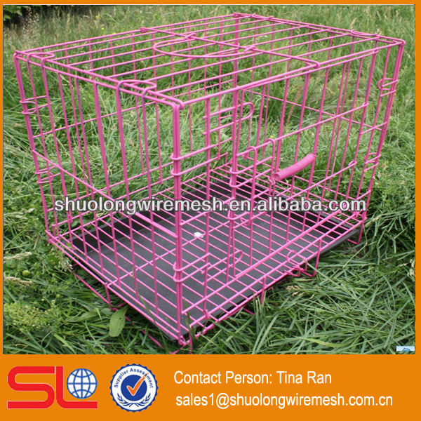 PVC Coated outdoor metal dog cages(have stock)
