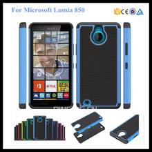 2 in 1 pc silicone hybrid combo rugged shockproof case for Microsoft lumia 850 football textures back cover