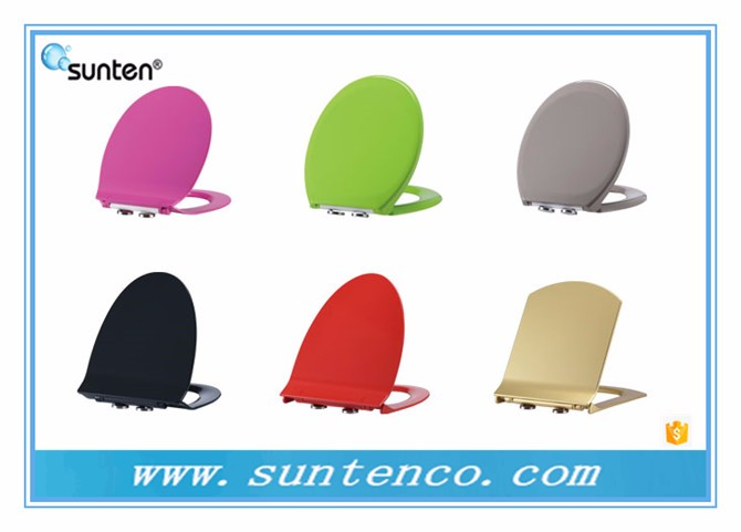 Bathroom Ultra Slim Duroplast Material Soft Closing D Shape Toilet Seat