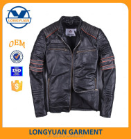 Navy Winter down Jacket coat for Men, cotton dress Waterproof Warm Jacket leather