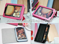 "2014 Hot selling Leather Stand Protective Cover Case For IdeaTab 7"" Lenovo A3000 Tablet PC"