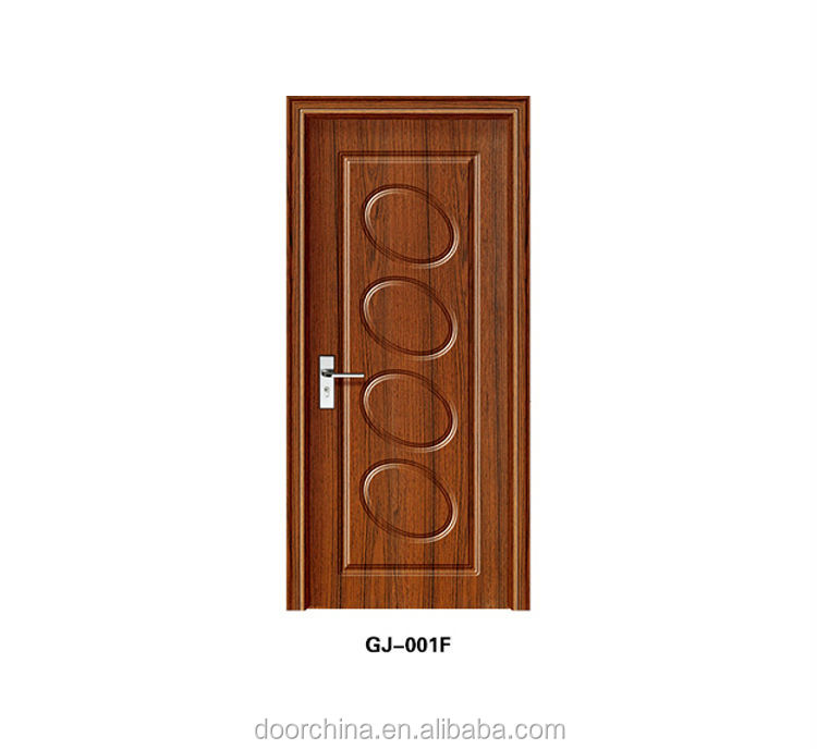 GJ-001F Modern Elliptic Circles Design Embossed PVC Coated Bedroom Wooden Door by China Yufeng Wood Door Manufacture