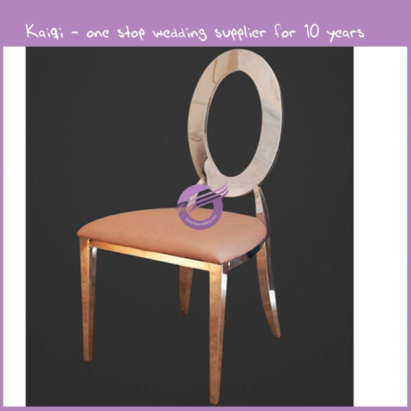 ZY00950 Hot sale gold stainless steel legs dining chair