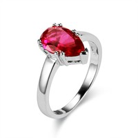JA-6196 Fine Genuine Jewelry Hot Sale S925 CZ High Quality Polish Craft Smooth Surface Solitaire Ring