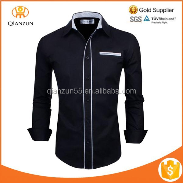 Wholesale multi-color cotton long sleeve t-shirt with pocket and buttons