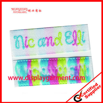 colorful woven label