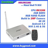 in stock M8S(RK3288) android smart 4K TV BOX Build in camera X8