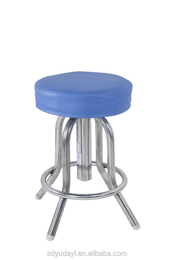 Hot! Durable stainless steel lifting round stool D19 with CE/ ISO