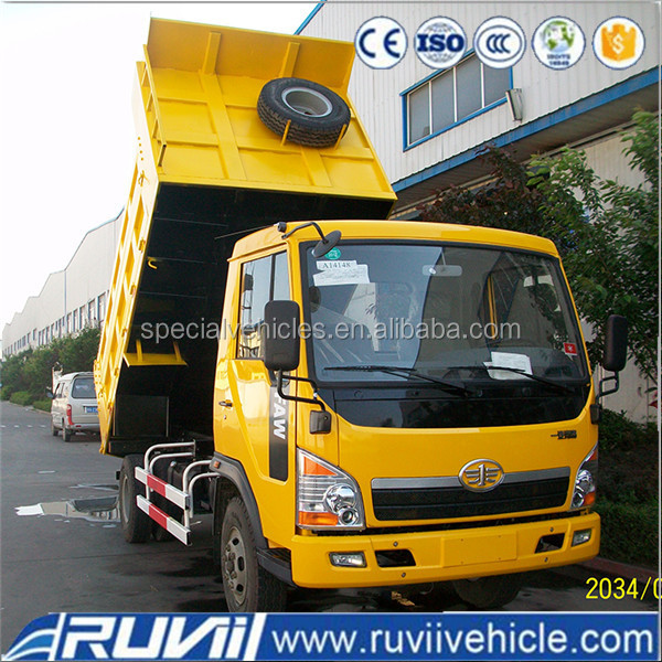 FAW 4x2 210HP tipper dump truck for sale self loading dumper truck
