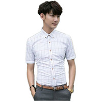 High quality wholesale new design turn down collar 3 colors for choice checkered shirt