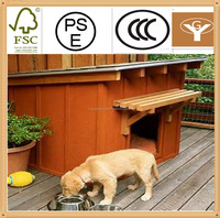 outdoor ventilated wood dog house with porch