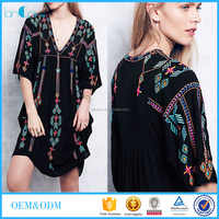 2016 new design women dress ethnic style embroidered indian dress online shopping