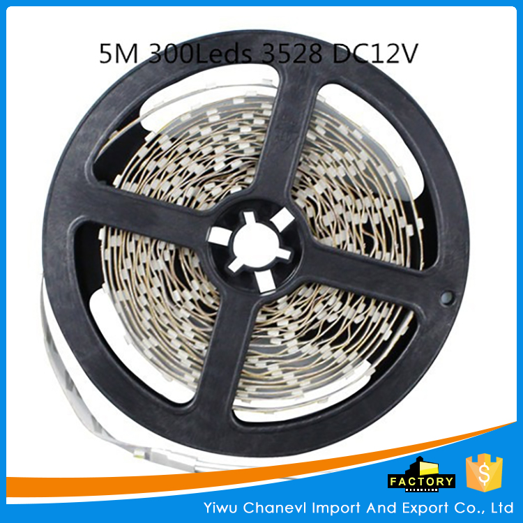 Non-waterproof 5M 300leds 3528 DC12v 60leds/m Flexible led strip light festival decoration rope light