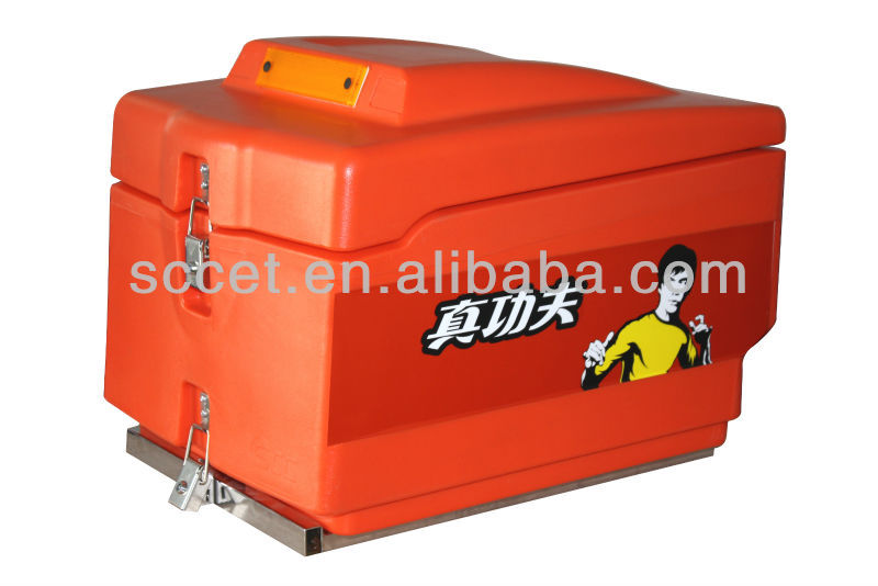Insulated box, Insulated delivery box for Scooter, 45L delivery box