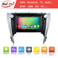 Huifei Quad Core A9 Android 4.4 Capacitive Screen 1024*600 Mirror Link In Car Entertainment For Toyota Camry 2012 Gps Navigation